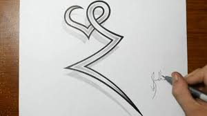 Drawing The Letter Z Combined With A Heart