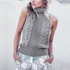 popular sleeveless knitted sweater buy cheap sleeveless knitted