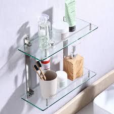 kes badregal doppelglas mit wandhalterung glasboden und
