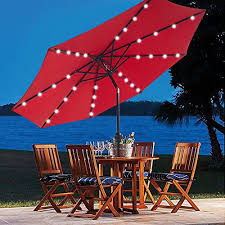 Solar Lighted Patio Umbrella by 5 Best Patio Umbrella With Solar Lights Cheap Led Powered Light