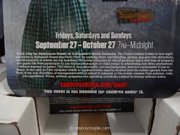 Californias Great America Halloween Haunt 2017 by Great America Halloween Haunt Admission Ticket