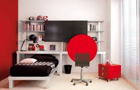 Black White And Red Bedroom Decor Photo