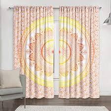 indisches ombre mandala vorhang set für exotische wohnzimmer fenster dekoration