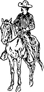 Cowboy On Horse 1 Coloring Pages