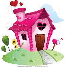 News Home With A Heart On Avenue Clipart Of Pink Love