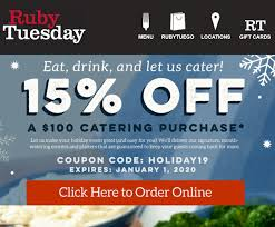 Ruby Tuesday Coupon Code Ruby Tuesday Of Minot Posts North Dakota Menu Free Birthday Treat At Restaurant Giftout Olive Garden Coupons Coupon Code Promo Codes January 20 Appetizer With Entree Purchase Via Savvy Spending Tuesdays B1g1 Free Burger Coupon On 3 Frigidaire Filter Code Vnyl Amtrak Codes April 2018 Tj Maxx Wwwrubytuesdaycomsurvey Win Validation To Kfc Cup Tea Save Gift Cards For Fathers Day Flash Sale Burger Minis 213 5 From 11