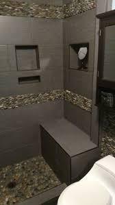 best 25 pebble tile shower ideas on pinterest large tile shower
