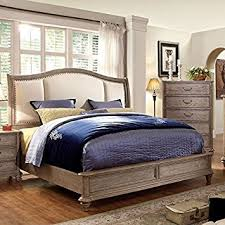Norco II Transitional Rustic Weathered Oak Eastern King Size Bed