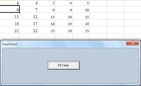 VBA For Excel Using 2D Array To Print Table Of Series Numbers