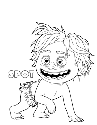 The Good Dinosaur Spot Coloring Pages
