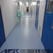 100 Waterproof Antistatic Hospital Vinyl Roll Flooring ESD Plastic In Sheet