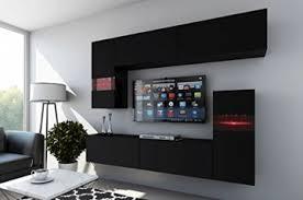 future 31 wohnwand anbauwand wohnzimmer tv schrank möbel wohnzimmerschrank led rgb beleuchtung matt weiß schwarz 31 m b 4 rgb
