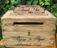 Wedding Rustic Card Box Country Chest Cards Thank You Woodland Personalized Custom Wood Wooden Barn Style