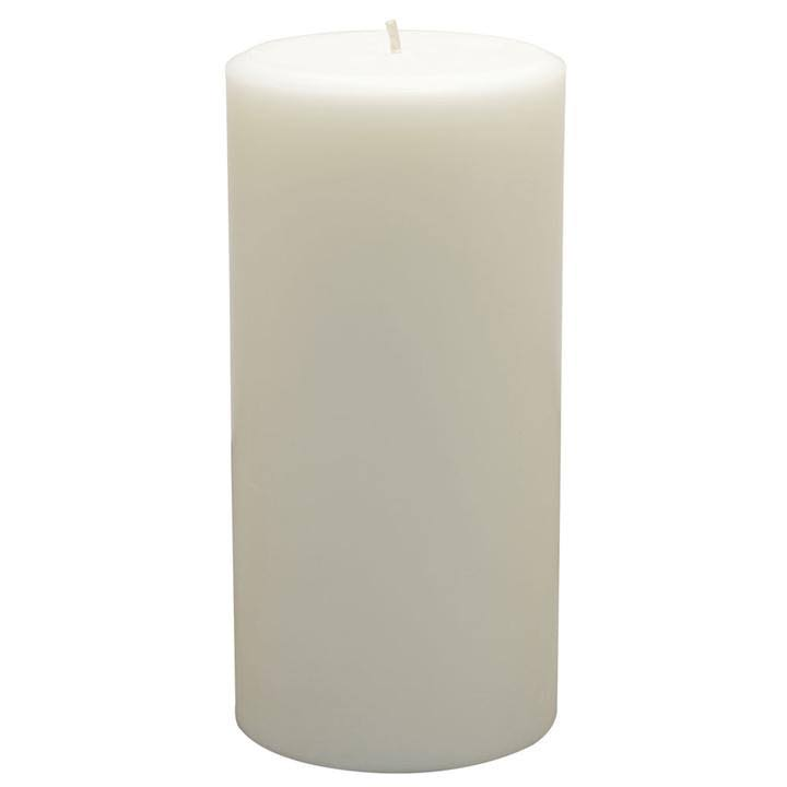 "Northern Lights Candles Pillar Candle - 3""x6"", Pure White, Unscented"