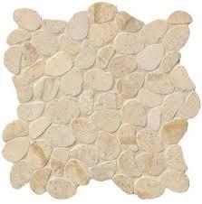 sand pebble honed limestone mesh mounted mosaic tile