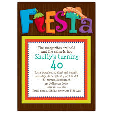 Fiesta Party Invitations Lets Celebrate 40th Adult Girls Women Hot Fun Glamours Simple Design Printable Cards