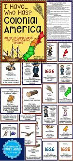 13 Colonies I Have Who Has Game Teaching ResourcesSocial Studies ActivitiesHistory