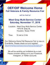 OEFOIF Welcome Home Fall Veterans Family Resource Fair Texas