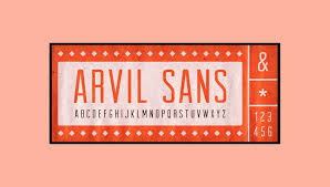 Free Retro And Vintage Fonts Arvil