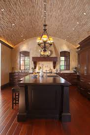 half vaulted ceiling dining room contemporary with recessed lighting