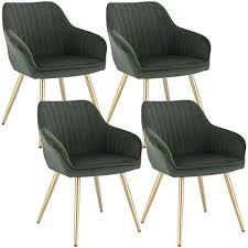 lestarain 4 stücke esszimmerstuhl küchenstuhl wohnzimmerstuhl sitzfläche aus samt polsterstuhl mit armlehne metallbeine polstersessel stuhl für
