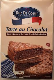 tarte au chocolat schokolade duc de coeur 490 g