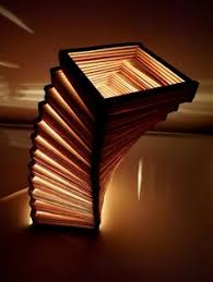 Popsicle Stick Night Lamp Octagonal