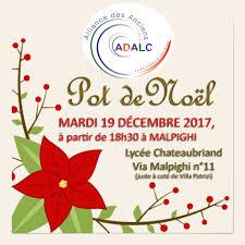 adalc notre traditionnel pot de noël mardi 19 décembre 2017 à