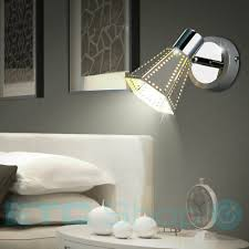wandleuchte schlafzimmer lesele grau gold verstellbar 1 flammig flurstrahler