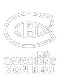 Montreal Canadiens Logo Coloring Page