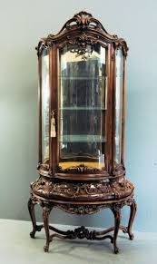 Curved Glass Curio Cabinet Antique by Best 25 Small Curio Cabinet Ideas On Pinterest Small China