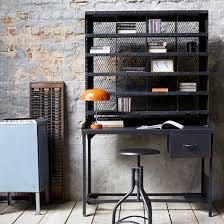 bureau m騁allique industriel bureau tri postal en métal noir 1 tiroir industriel decoclico