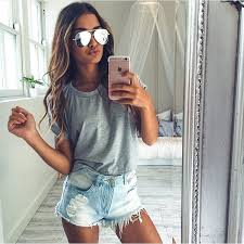 Getting Ready For Spring In Ripped Jean Shorts