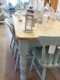 Shabby Chic Dining Room Table And Chairs by Hand Painted Farmhouse Table And Chairs Custom Order Home