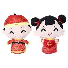Amazoncom TOYANDONA 1 Pair Chinese Style Costume Couple Dolls