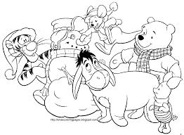 Winnie Pooh Christmas Colouring Disney