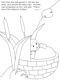 Babymoses Bible Coloring Pages
