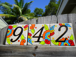 Mexican Tile House Numbers With Frame by Tile Attachment Ideas Luckii Arts Casey Virata