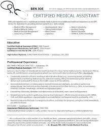 Medical Assistant Instructor Resume For Resumes Examples