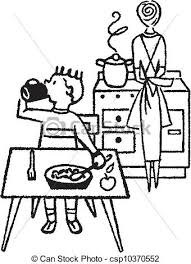 Clean Kitchen Clipart Black And White