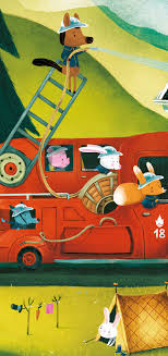 Mini Silhouette Puzzles - The Fire Truck - 16pcs - Givens Books And ...