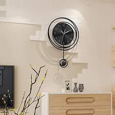 zsaimd pendel wanduhr modern silent non ticking analog wanduhren batteriebetrieben for wohnzimmer dekor metall mit kuppel große dekorative digitale