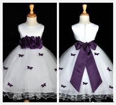 sale 2017 white purple flower girl dresses jewel neck