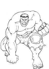 Incredible Hulk Coloring Pages Free Print Archives Throughout
