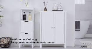 vasagle badezimmerschrank freistehender badschrank