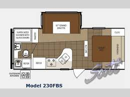 R Pod Camper Floor Plans by New 2012 Prime Time Manufacturing Tracer 230fbs Travel Trailer At