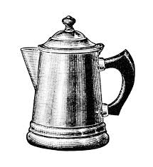 Isolated Absract Retro Coffee Pot Logo Jag With Milk Logotype