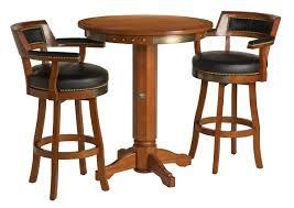 Harley-Davidson B&S Flames Pub Table & Backrest Stool Set Heritage Brown  HDL-13201-H