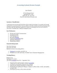 Sample Resume For Accounting Student Graduate