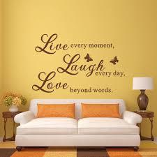 live lachen liebe wandtattoos kunstwand angebot schriftzug wohnzimmer aufkleber 28 x 40 m